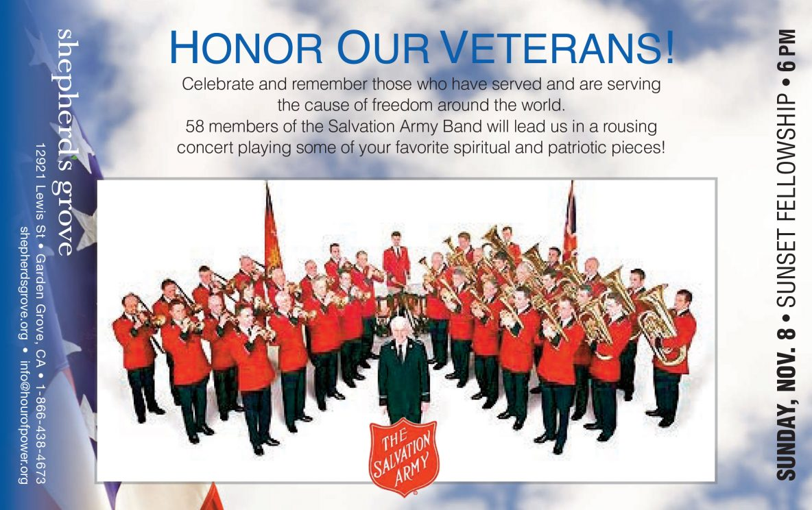 Shepherd's Grove Celebrates Veteran's Day with the Salvation Army Band